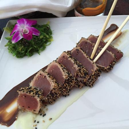 Sesame encrusted tuna