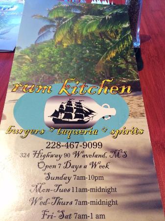 The Rum Kitchen Waveland Menu