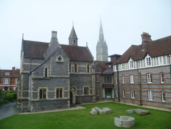 Sarum College: View from bedroom