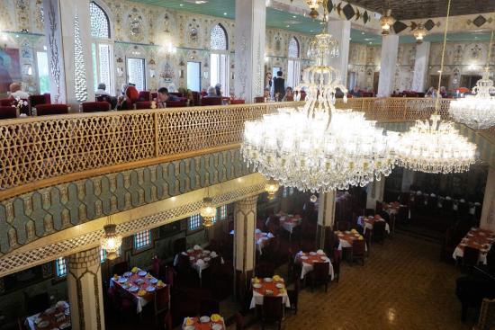 Abbasi Hotel: Upstairs, breakfast hall, downstairs restaurant