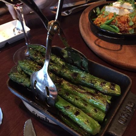 Grilled Asparagus (comes with Parmesan cheese but was omitted here)