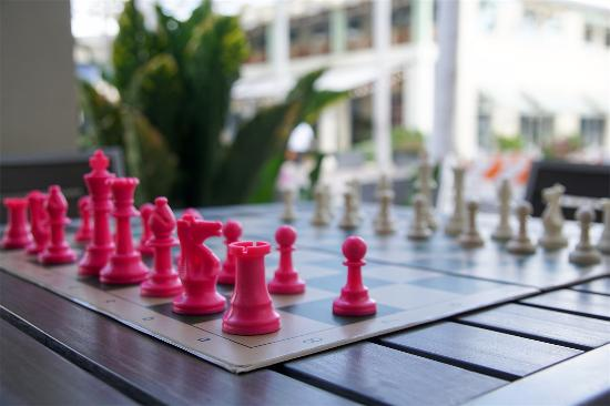 West Bay, Grand Cayman: street chess