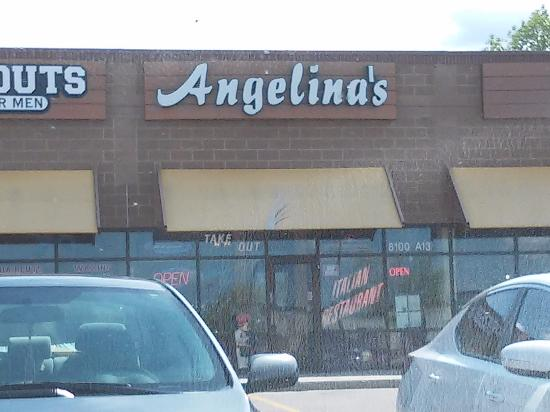Littleton, CO: Angelina's is tucked in with other stores in a strip next to a few big box stores.