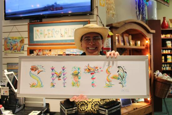 Maui Ocean Center: Painted In The Gift Shop While We Watched   Pretty Cool  And