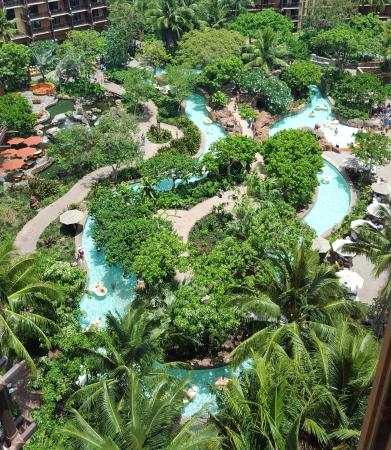 View of the lazy river from the 14th floor