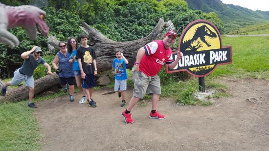 Kaneohe, HI: Jurassic Park log