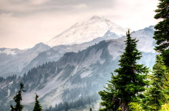 Ashford, Вашингтон: Mt. Baker in Smoke from Artist Point