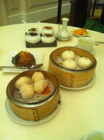 Exquisite dimsum. With gold filigree on top!
