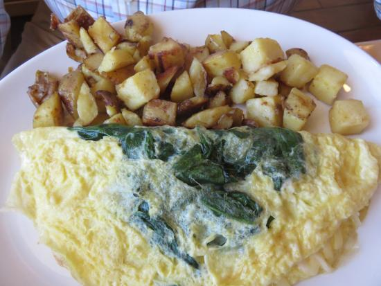 Barrie, Canada: Spinach omelet