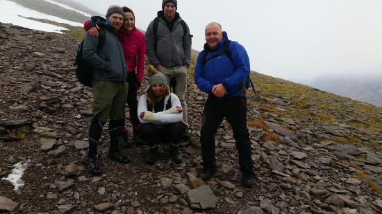 Killorglin, Irlanda: Richard with a group on Carrauntoohil