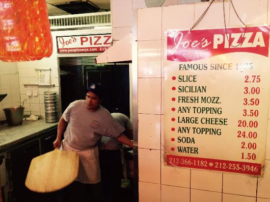 Pizza Time Picture Of Joes Pizza Carmine St New York