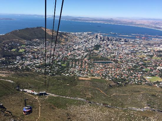 The cable car spins so you get great views going down picture of table mountain national park south africa the cable car spins so you get great publicscrutiny Images