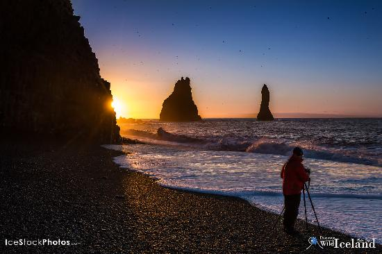 Vogar, Ισλανδία: At Reynisfjara twilight shooting