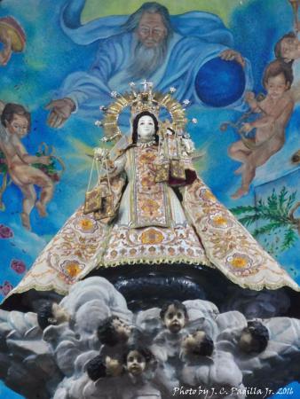 San Sebastian Church : Image of Our Lady of Mount Carme