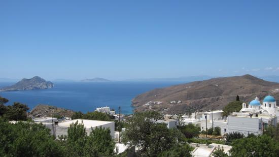 Aegiali, Hellas: View from the balcony