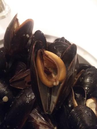 Pizzeria Jacques Cartier : tulip shaped mussels