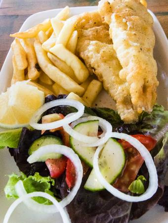 Scarborough, Sydafrika: Fish n' chips.