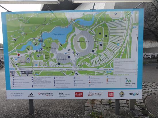 Mapa do complexo onde fica o Museu da BMW Picture of BMW Museum
