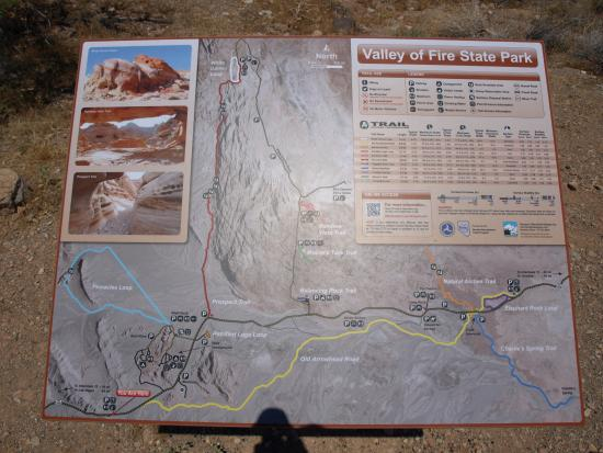 map at the west entrance station picture of valley of fire state