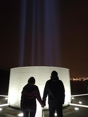 Imagine Peace Tower: Looking Up into the Light Tower was incredibly moving