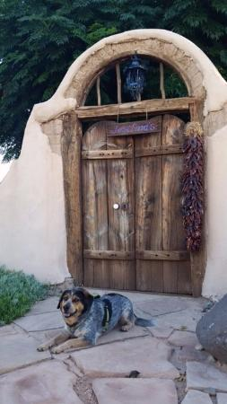 Josefina's Old Gate : This is the famous Josephina's gate. The dog was my daughter's and did not stay with us.