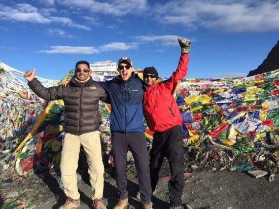 Exciting Nepal Treks and Expedition: Basu and Sandesh at the Throng La Pass