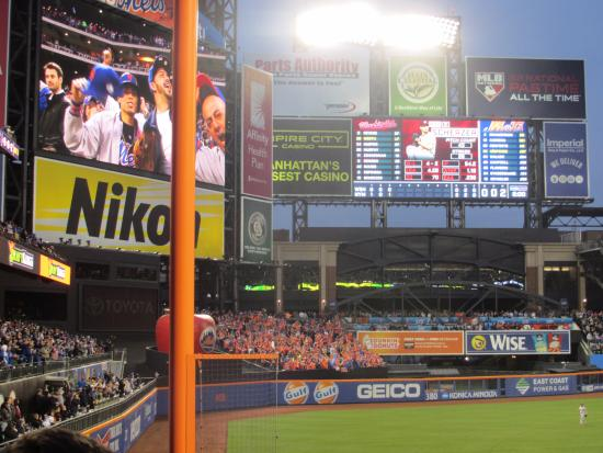Flushing, NY: Citi Field - Mets vs. Nationals (Left Field Foul Pole)