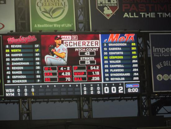 Flushing, NY: Citi Field - Mets vs. Nationals (Scoreboard)