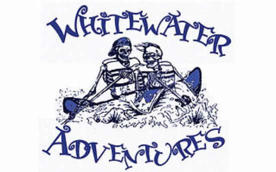 Rumsey, CA: River Rafting Skeletons Logo for WHITEWATER ADVENTURES Sacramento, California River Rafting Outf