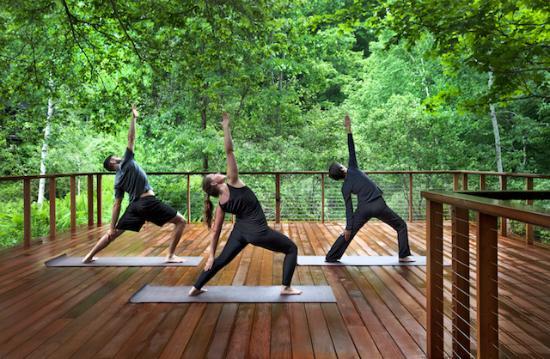 Barnard, Вермонт: Outdoor Yoga Deck