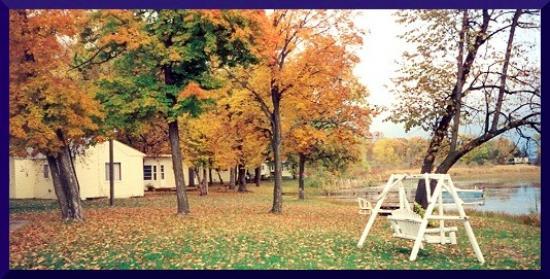 Detroit Lakes, MN: Long Bridge yard in the fall