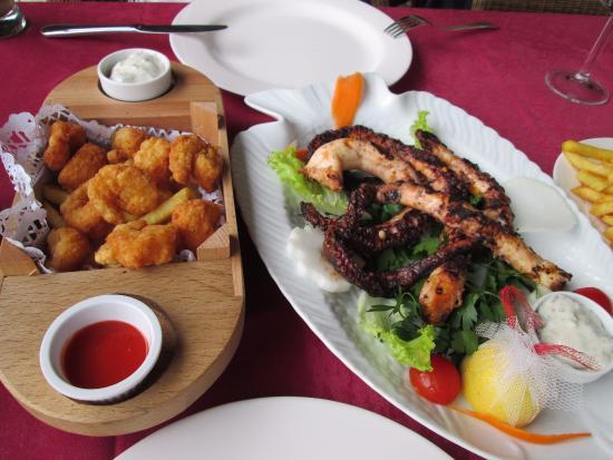 Mermerli Restaurant : shrimp and grilled octopus