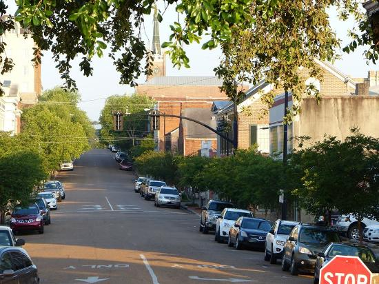Natchez, Mississippi: Downtown view at the Park