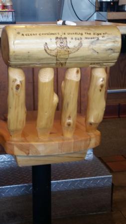 Портервилль, Калифорния: Counter stool