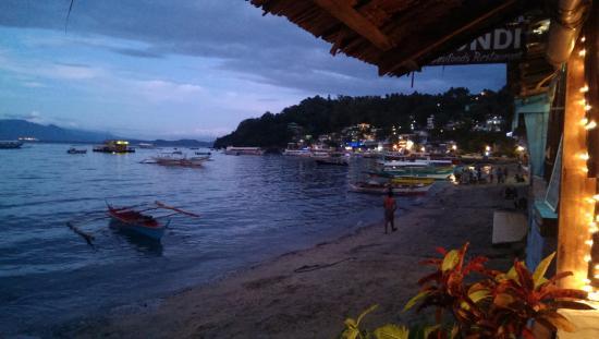 Steps Garden Resort: View from beach restaurant