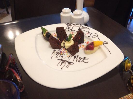 Just some of the sites, you can see. Flower pot food was a desert from Le Chique . The plate tha