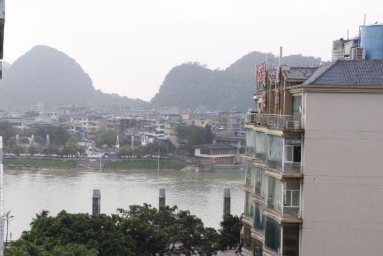 Universal Guilin Hotel: Vue sur la rivière Li depuis la chambre