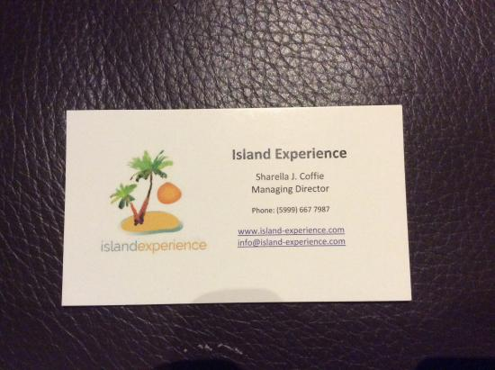 Island Experience Carte De Visite Lagence Sur Place A Curacao