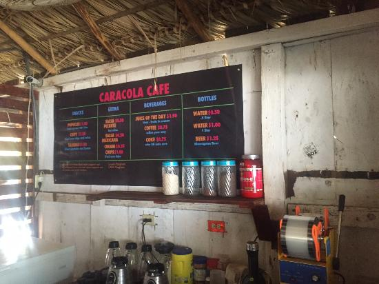 El Transito, Nicaragua: Drink menu