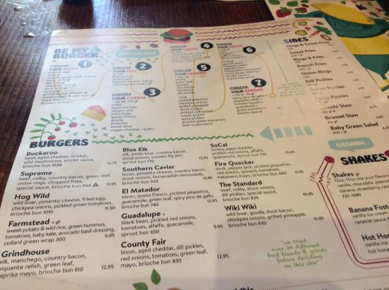 Menu Picture Of Bareburger New York City Tripadvisor