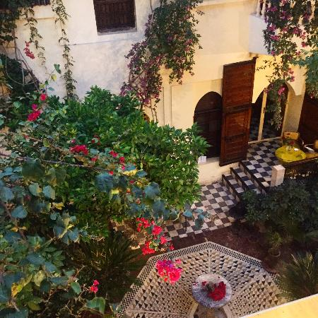 Riad Malika: beautiful courtyard