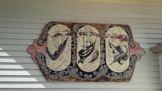 Russell Museum: Artwork at the back of the Museum