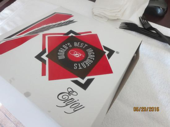 Paladino's Cicero Pizza: card box with the subs