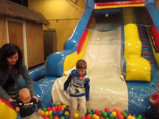 Timonium, MD: Bouncy slide with ball pit