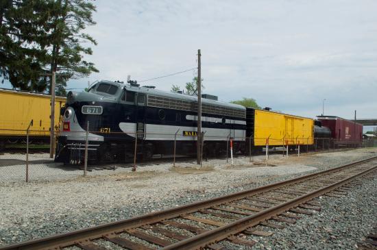 Bellevue, OH: The Wabash engine.