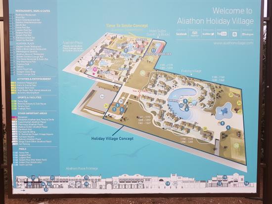 Aliathon Holiday Village: Plan of resort