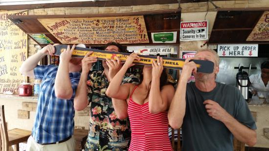 Cupecoy Bay, St. Maarten: Shots for four!