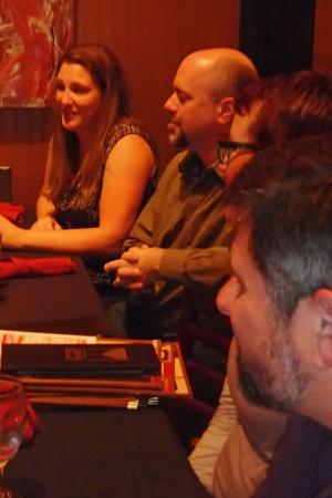 The Club Car Bar & Restaurant : Friends gathered for a birthday party.