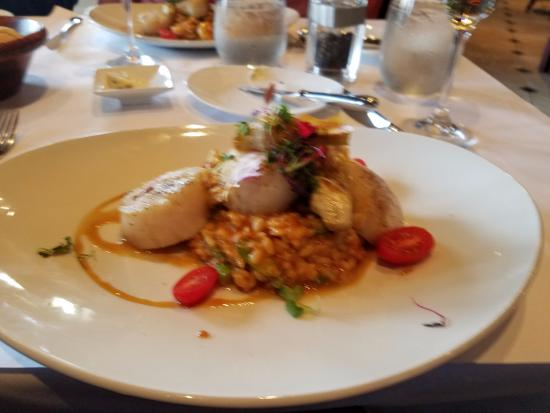 Central Park Bistro: Risotto with scallops