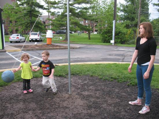Oxford, OH: Learning to play tetherball